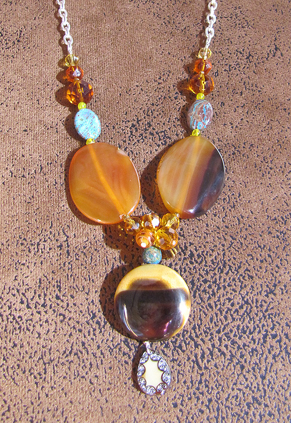 Agate-magnetitie-crystal Necklace