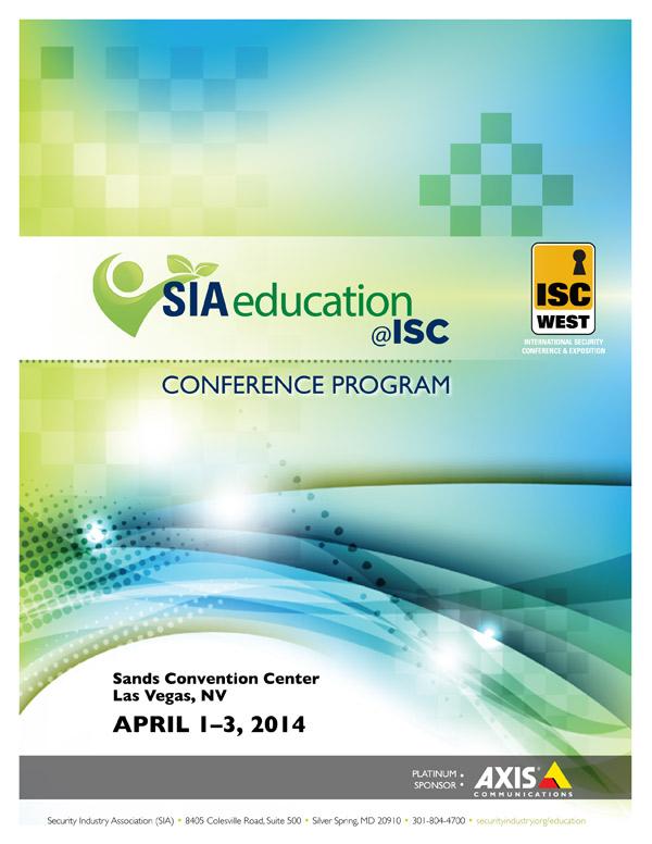 SIA Conference program cover