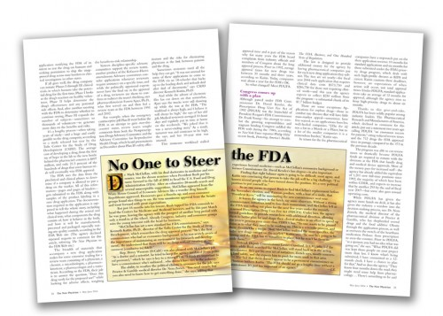 The New Physician, FDA Drug Approvals, inside pages