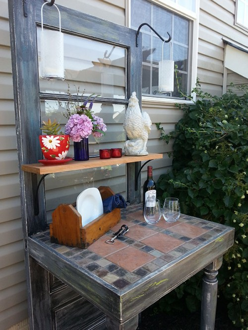 repurposed door table